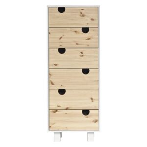 Komoda z 6 szufladami Karup Design House White/Natural