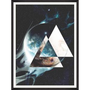 Oprawiony plakat Art Planet In Space I