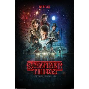 Plakat, Obraz Stranger Things - One Sheet, (61 x 91,5 cm)
