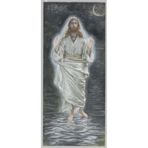James Jacques Joseph Tissot - Reprodukcja Jesus Walks on the Sea illustration from 'The Life of Our Lord Jesus Christ'
