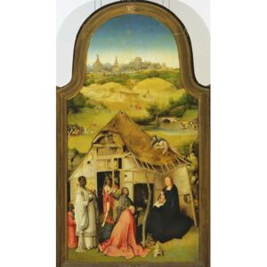 Hieronymus Bosch - Reprodukcja The Adoration of the Magi detail of the central panel 1510 oil on panel