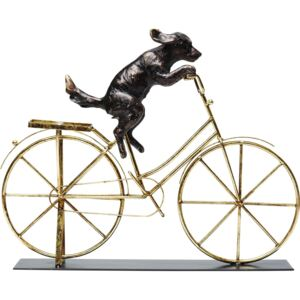 Figurka dekoracyjna Dog with Bicycle 44x36 cm