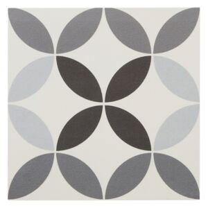Gres Hydrolic Design 4 Colours 20 x 20 cm circle4 b&w 1 m2