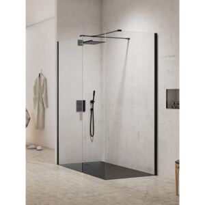 Kabina prysznicowa NEW MODUS BLACK walk-in 120x80x200 szkło czyste 8 mm Active Shield