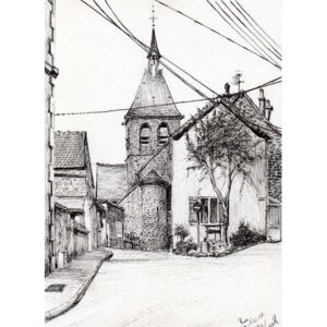 Vincent Alexander Booth - Reprodukcja Church in Laignes France 2007