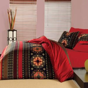 SELSEY Komplet pościeli Rose Softly Queen Red