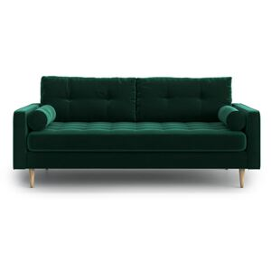 Sofa Esme II pikowana 3-osobowa, Bottle Green
