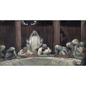 James Jacques Joseph Tissot - Reprodukcja He Appeared to the Eleven as They Sat at Meat illustration from 'The Life of Christ' c 1884-96