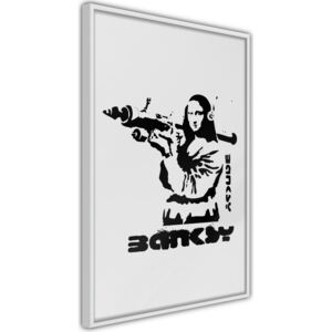 Plakat - Banksy: Mona Lisa with Bazooka I
