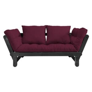 Sofa rozkładana Karup Design Beat Black/Bordeaux