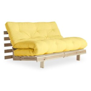 Sofa rozkładana Karup Design Roots Raw/Yellow