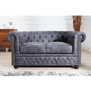 Sofa chesterfield 2er szary 37390