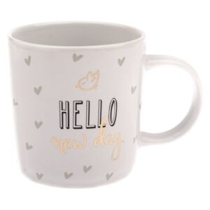 Kubek porcelanowy Dakls Hello, 360 ml