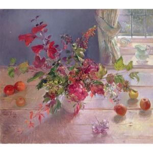 Timothy Easton - Reprodukcja Honeysuckle and Berries 1993