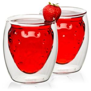 4home Szklanka termiczna Strawberry Hot&Cool, 250 ml, 2 szt