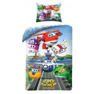 Lenjerie de pat copii Cotton Super Wings SWI-5511BL