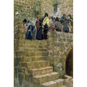 James Jacques Joseph Tissot - Reprodukcja The Evil Counsel of Caiaphas illustration for 'The Life of Christ' c 1886-96