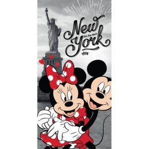 Ręcznik kąpielowy Mickey and Minnie in New York, 70 x 140 cm