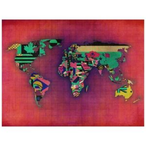 Fototapeta - Avant-garde World map