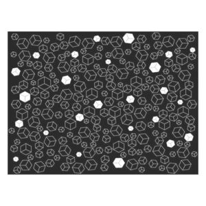 Fototapeta - Black-and-white solids
