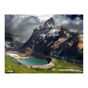 Fototapeta - Mountain landscape with lake