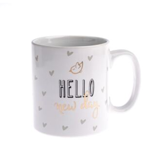 Kubek porcelanowy Dakls Hello New Day, 650 ml