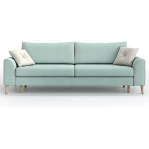 Sofa William 3 osobowa z funkcją spania, Aquamarine Mint/ Melva 02