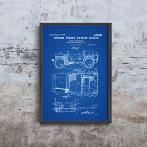 Plakatyw stylu retro Plakatyw stylu retro Willys Military Jeep Patent Patent Automobile Us Army