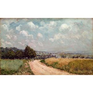Alfred Sisley - Reprodukcja Turning Road or View of the Seine 1875