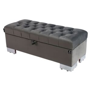 Kufer Pikowany CHESTERFIELD Grafit / Model Q-4 Rozmiary od 50 cm do 200 cm