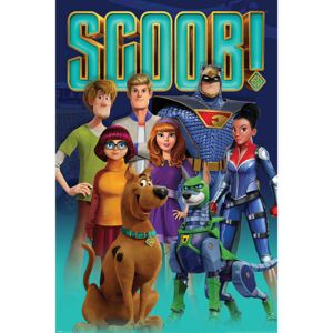 Plakat, Obraz Scoob - Scooby Gang and Falcon Force, (61 x 91,5 cm)
