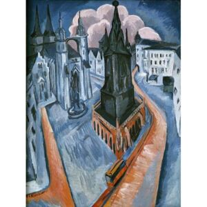 Kirchner, Ernst Ludwig - Reprodukcja The Red Tower in Halle 1915