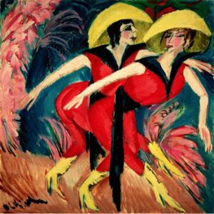 Kirchner, Ernst Ludwig - Reprodukcja Dancers in Red 1914