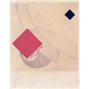 Lissitzky, Eliezer (El) Markowich - Reprodukcja Study for 'This is the end' from the 'Story of Two Squares' 1920