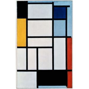 Mondrian, Piet - Reprodukcja Composition with red black yellow blue and grey 1921 by Piet Mondrian oil on canvas Netherlands 20th century