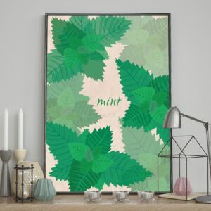 DecoKing - Plakat Ścienny - Mint 40x50 cm