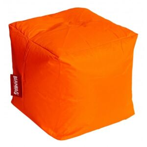 BeanBag Pufa do siedzenia Cube fluo orange
