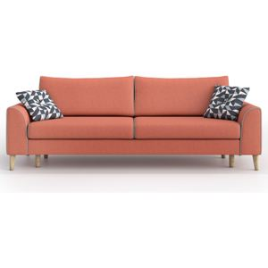 Sofa William 3 osobowa z funkcją spania, Wooly Orange