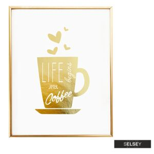Selsey Plakat Life Begins After Coffee