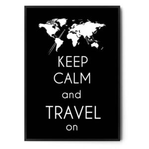 Plakat KEEP CALM AND TRAVEL ON