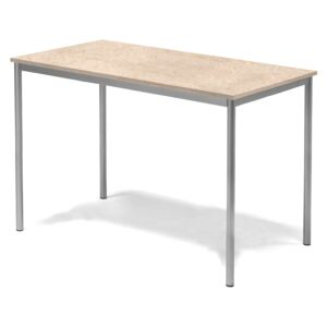 #e- Table Sonitus 1400x800h.900 mm. Frame silver, tabletop beige linoleum
