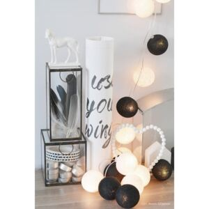 BLACK & WHITE Cotton Ball Lights 20 kul PREMIUM