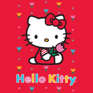 Dywan Disney Kids Hello Kitty Red 756, Druk Cyfrowy