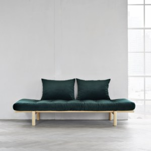 Sofa Pace Velvet Day-Bed Natural Green