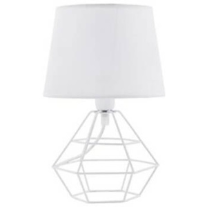 TK Lighting Lampa stołowa Diamond White