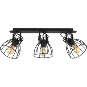 TK Lighting Lampa Sufitowa Alano Black 3pł