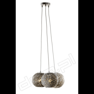 TK Lighting Lampa wisząca BACKAZ PREMIUM Gray 3pł