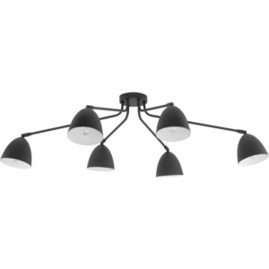 TK Lighting Lampa sufitowa Loretta Black 6pł