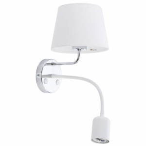 TK Lighting Kinkiet Maja GU10 Led White/Chrome