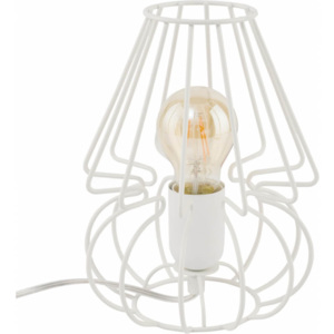 TK Lighting Lampka Biurkowa Picolo White